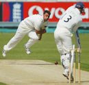 Darren Gough delivers to Jon Lewis, Durham v Yorkshire, County Championship Division Two, Chester-le-Street, 2nd day, July 16, 2003
