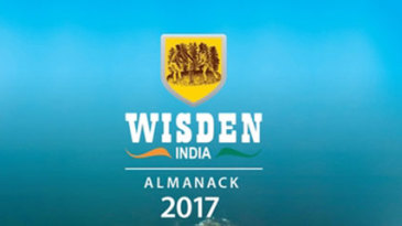 The cover image of the 2017 <i>Wisden India Almanack</i>