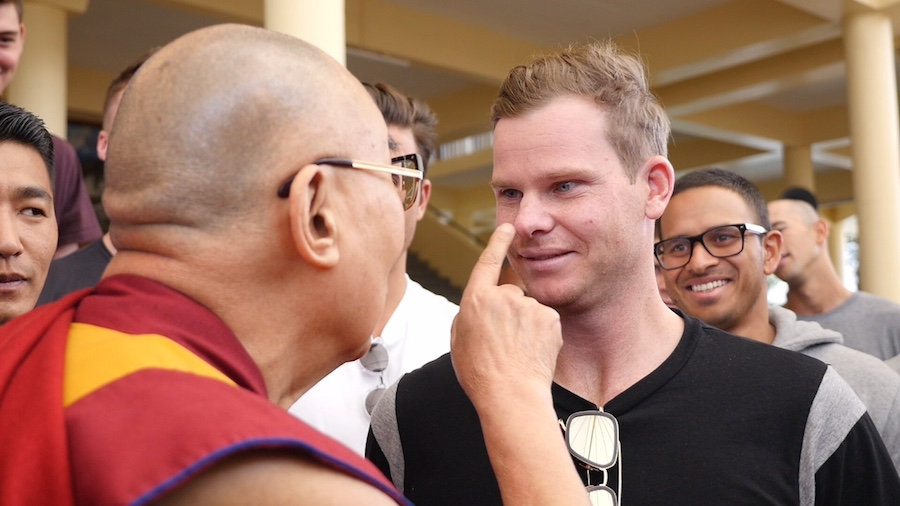 The Dalai Lama meets Steven Smith