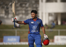 Rahmat Shah celebrates his century, Afghanistan v Ireland, 5th ODI, Greater Noida, March 24, 2017