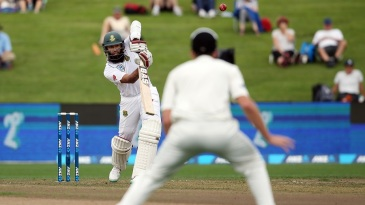 Hashim Amla drives into the off side