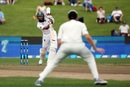 Hashim Amla drives into the off side, New Zealand v South Africa, 3rd Test, Hamilton, 1st day, March 25, 2017
