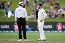Kane Williamson did not have a good time with DRS, New Zealand v South Africa, 3rd Test, Hamilton, 1st day, March 25, 2017