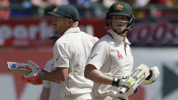 David Warner and Steven Smith put on 134 in 32.3 overs