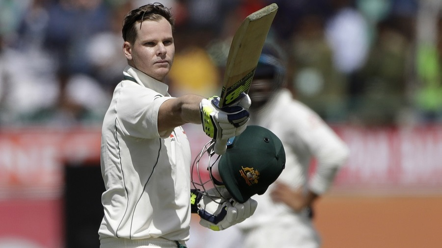 Steven Smith struck his third century of the series