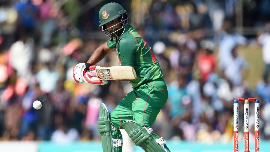 Tamim Iqbal opens the face of his bat