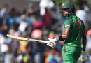 Sabbir Rahman celebrates his half-century, Sri Lanka v Bangladesh, 1st ODI, Dambulla, March 25, 2017