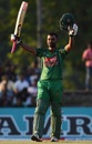Tamim Iqbal celebrates his eighth ODI century, Sri Lanka v Bangladesh, 1st ODI, Dambulla, March 25, 2017