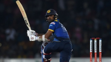 Dinesh Chandimal plays one through fine leg