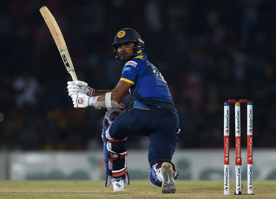 MS Dhoni gets a lucky escape during his innings against Sri Lanka