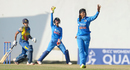 Rajeshwari Gayakwad appeals for a wicket, India v Sri Lanka, Women's World Cup Qualifier 2017, Colombo, February 7, 2017