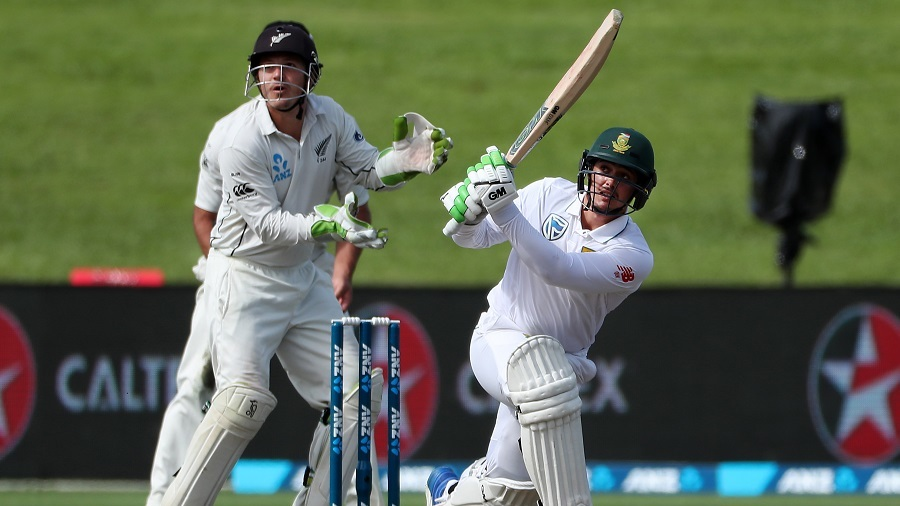 Quinton de Kock slog sweeps powerfully