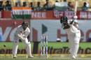 KL Rahul drives through the off side, India v Australia, 4th Test, Dharamsala, 2nd day, March 26, 2017