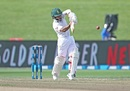 Temba Bavuma lays into a pull shot, New Zealand v South Africa, 3rd Test, Hamilton, 2nd day, March 26, 2017