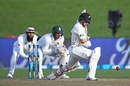 Tom Latham pads one away, New Zealand v South Africa, 3rd Test, Hamilton, 2nd day, March 26, 2017