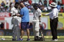 KL Rahul receives medical attention, India v Australia, 4th Test, Dharamsala, 2nd day, March 26, 2017