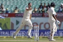 Josh Hazlewood is pumped up after dismissing M Vijay, India v Australia, 4th Test, Dharamsala, 2nd day, March 26, 2017