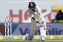 KL Rahul gets down to sweep, India v Australia, 4th Test, Dharamsala, 2nd day, March 26, 2017