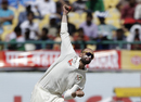 Nathan Lyon in his delivery stride, India v Australia, 4th Test, Dharamsala, 2nd day, March 26, 2017