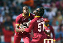 Carlos Brathwaite and Chadwick Walton collide into each other while going for a catch, West Indies v Pakistan, 1st T20I, Bridgetown, March 26, 2017