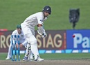 Jeet Raval is a picture of concentration, New Zealand v South Africa, 3rd Test, Hamilton, 3rd day, March 27, 2017