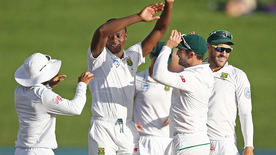 Kagiso Rabada provided South Africa with late respite