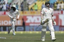 Steven Smith walks back after being bowled, India v Australia, 4th Test, Dharamsala, 3rd day, March 27, 2017