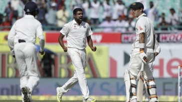 R Ashwin struck after tea to remove Glenn Maxwell