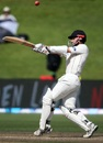 Kane Williamson top-edged a hook to be caught at long leg, New Zealand v South Africa, 3rd Test, Hamilton, 4th day, March 28, 2017
