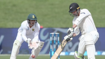 Colin de Grandhomme struck his maiden Test fifty