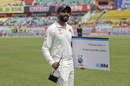 Ravindra Jadeja soaks in the adulation after being adjudged the Player of the Match and Series, India v Australia, 4th Test, Dharamsala, 4th day, March 28, 2017