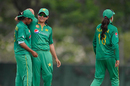Nashra Sandhu gets a hug from captain Sana Mir, Pakistan Women v Papua New Guinea Women, Colombo, Feb 10, 2017