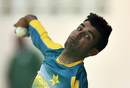 Shadab Khan bowls in the nets, Port-of-Spain, March 28, 2017
