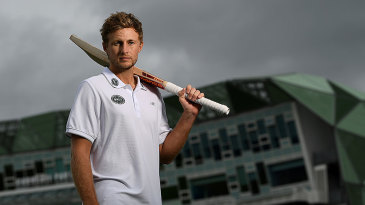 Joe Root poses in front of the Headingley pavilion