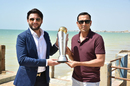 Shahid Afridi and Younis Khan unveiled the ICC Champions Trophy in Karachi, ICC Champions Trophy 2017, Karachi, March 30, 2017