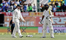 Steven Smith walks over to Ajinkya Rahane, India v Australia, 4th Test, Dharamsala, 4th day, March 28, 2017