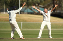 Jon Holland makes an appeal in the second innings, Victoria v South Australia, Sheffield Shield final, Alice Springs, 5th day, March 30, 2017