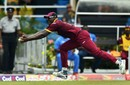 Carlos Brathwaite takes a running catch near mid-off, West Indies v Pakistan, 2nd T20I, Port of Spain, March 30, 2017