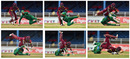 Ahmed Shehzad suffered a nasty collision with Chadwick Walton, West Indies v Pakistan, 2nd T20I, Port of Spain, March 30, 2017
