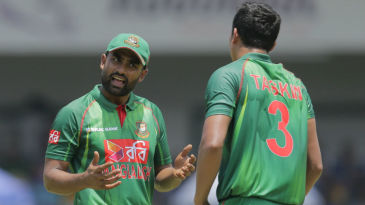 Tamim Iqbal and Taskin Ahmed were involved in an animated mid-pitch chat