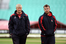 Glen Chapple and Steven Croft inspect the outfield, Surrey v Lancashire, County Championship, Division Two, The Oval, 1st day, May 31, 2015