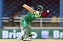 Fakhar Zaman plays through the off side, West Indies v Pakistan, 3rd T20I, Port of Spain, April 1, 2017