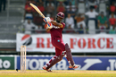 Evin Lewis swivels to reach the backward square-leg fence, West Indies v Pakistan, 3rd T20I, Port of Spain, April 1, 2017