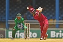 Chadwick Walton drives over mid-off, West Indies v Pakistan, 4th T20I, Port of Spain, April 2, 2017