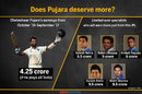 Cheteshwar Pujara will earn less this year than many Twenty20 specialists