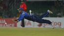 Dilshan Munaweera has a shy at the stumps while levitating parallel to the ground, Sri Lanka v Bangladesh, 1st T20I, Colombo, April 4, 2017
