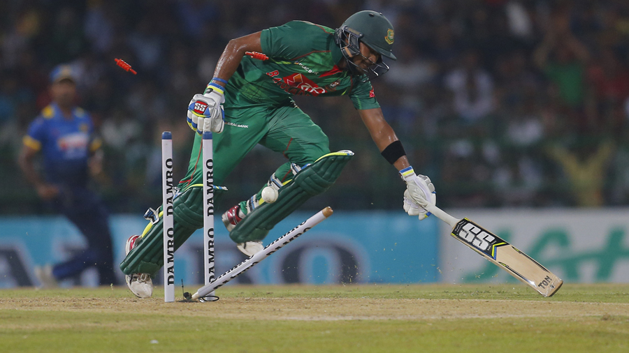 Sabbir Rahman was run out