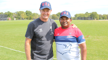 Trevor Penney appeared as a guest fielding coach with USA head coach Pubudu Dassanayake