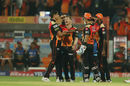Ashish Nehra became the first left-arm bowler to take 100 IPL wickets, Sunrisers Hyderabad v Royal Challengers Bangalore, IPL, Hyderabad, April 5, 2017