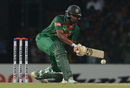 Shakib Al Hasan plays a paddle sweep, Sri Lanka v Bangladesh, 2nd T20I, Colombo, April 6, 2017